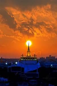 Wat Saket Sunset - Bangkok | Thailand | Pinterest | Travel ...