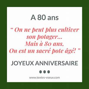Cadeau Pour Personne Agée : mod le de texte anniversaire 80 ans message original de souhaits ~ Melissatoandfro.com Idées de Décoration