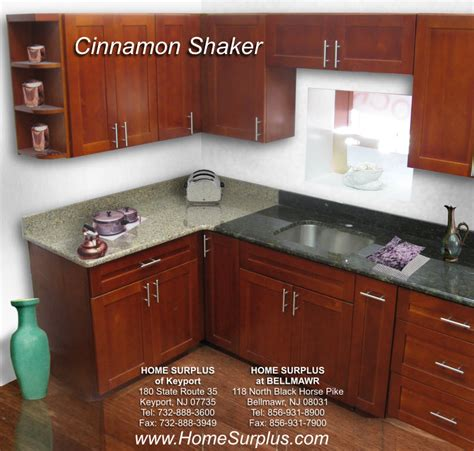 cinnamon shaker kitchen cabinets cinnamon shaker cabinets home surplus 5424