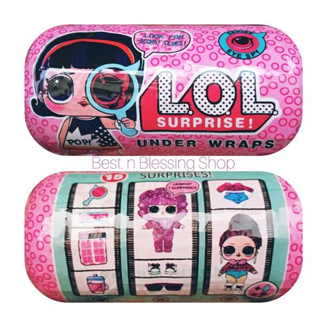 jual lol surprise kapsul  wraps series eye spy