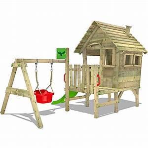 Spielhaus Mit Veranda : fatmoose stelzenhaus vanillavilla joy xxl spielhaus mit rutsche veranda und schaukelanbau ~ Frokenaadalensverden.com Haus und Dekorationen