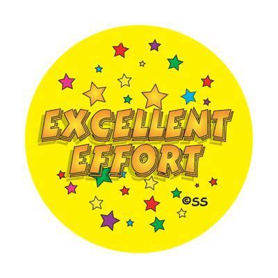 Sticker Excellent Effort Stars
