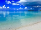 Caribbean Sea from a secluded beach on North Eleuthera ...