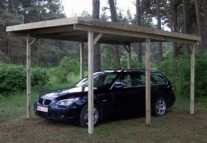 Abri De Jardin Ouvert : abri voiture en bois autoclave de 3 x 5 m au toit plat en ~ Premium-room.com Idées de Décoration