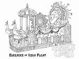 Coloring Gras Mardi Float Printable Sheets Universal Parade Studios Orlando Template Coloring4free Carnival India Jesters Starting Saturday Ready Jester Detailed sketch template