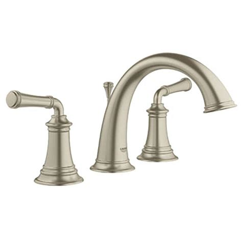 grohe kitchen sink faucets shop grohe gloucester brushed nickel 2 handle widespread