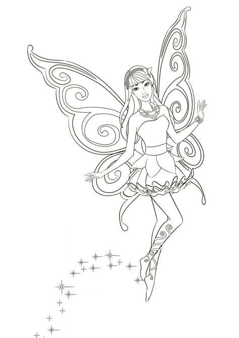 Mysterious Fairy high quality free coloring from the