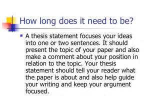 how to write a good thesis statement for an essay