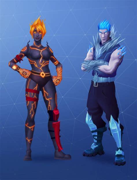 fire  ice skin concepts fortnitebr