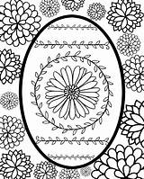 Easter Egg Printable Coloring Faberge sketch template