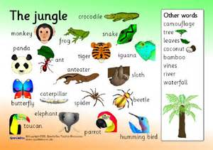 printable activities jungle word mat sb1404 sparklebox