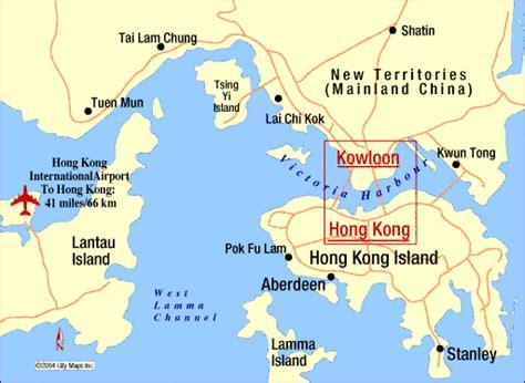 hong kong china map travelquazcom
