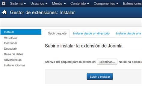 como instaler template joomla desde url instalar una plantilla joomla documentation
