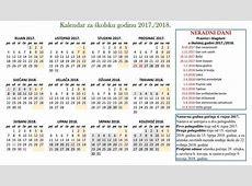 Kalendar školske godine 20172018 4c Pčelice
