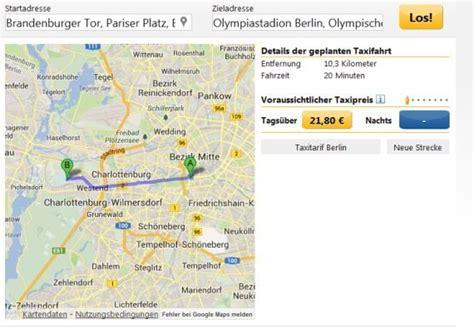 taxikosten berechnen  mit app android iphone