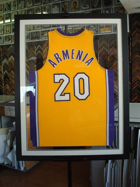 double sided frame jersey custom picture framing