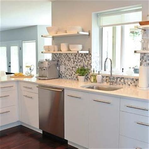 white kitchen with blue backsplash cabinets kitchen peninsula contemporary kitchen 1832