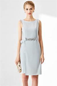 Robe Pour Temoin De Mariage : robe soir e bleu pastel fourreau taille embellie de bijoux ~ Melissatoandfro.com Idées de Décoration