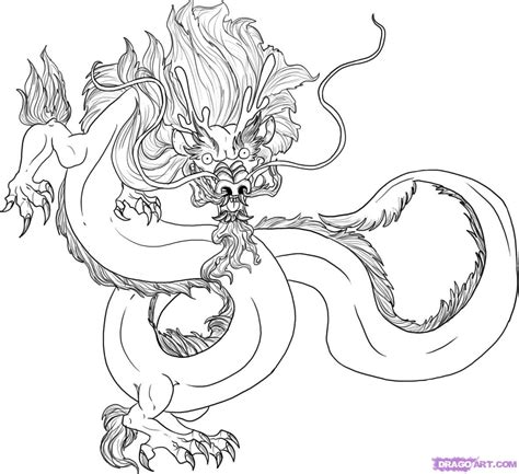 How To Draw A Traditional Chinese Dragon, Step By Step