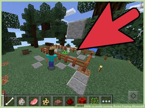 ways  avoid  bored playing minecraft wikihow