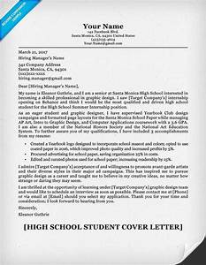 resume cover letter examples for high school students With how to write a cover letter for high school students