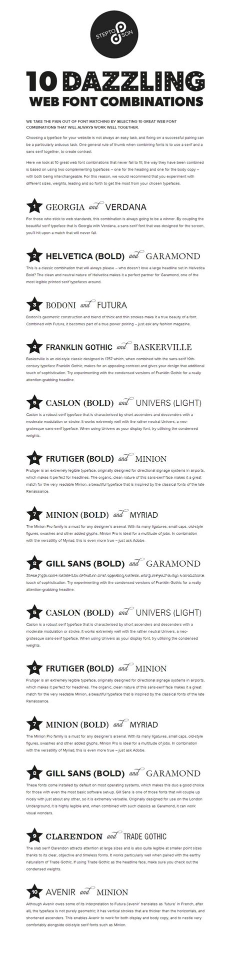 Font Style For Resume by 10 Great Web Font Combinations For Your Resume Resume