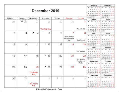 December 2019 Calendar Printable With Holidays Pdf And Jpg