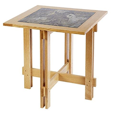 wooden table with tile top tile top accent table woodworking plan from wood magazine