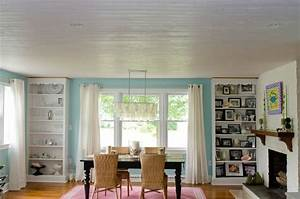 Wood plank ceiling recessed lighting life photos