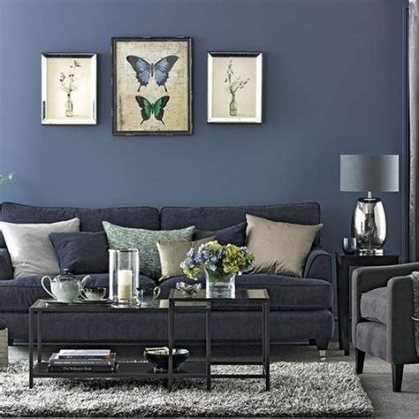 Blue Gray Paint In Living Room by Denim Blue And Grey Living Room Blue And Grey Home Decor