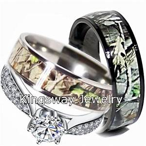 camo wedding ring set for him and her titanium black ip With titanium wedding ring sets for him and her