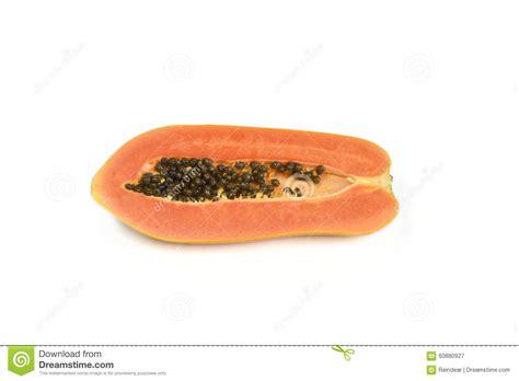 how to cut a papaya half cut papaya fruit stock photo image 60880927