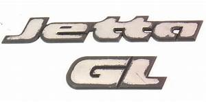 Trunk Emblems Badges Vw Jetta Gl Mk3 - Genuine