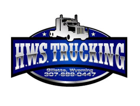 h w s trucking llc logo design 48hourslogo