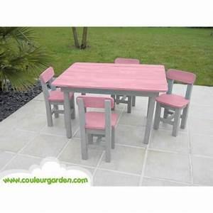 Table Enfant Exterieur : salon de jardin enfant ~ Melissatoandfro.com Idées de Décoration