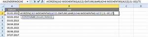 Excel Wochentag Berechnen : excel formel f r kalenderwochen ~ Haus.voiturepedia.club Haus und Dekorationen
