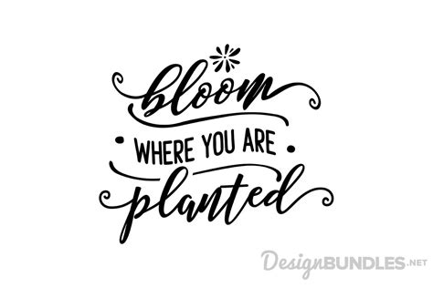 Such a sweet, positive message on this free svg that would make a cute design to add to a gardening shed or put on gloves as a gift for a family member who loves to garden. Bloom where you are planted