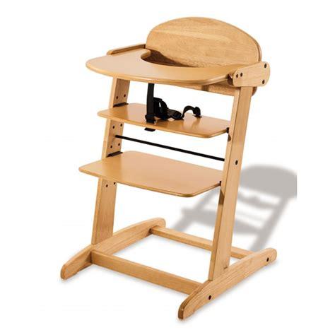 chaise haute bébé en bois chaise haute bébé quot bruno quot vernis transparent pinolino