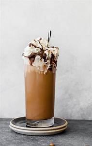 Iced Coffee Mocha with Homemade Chocolate Syrup