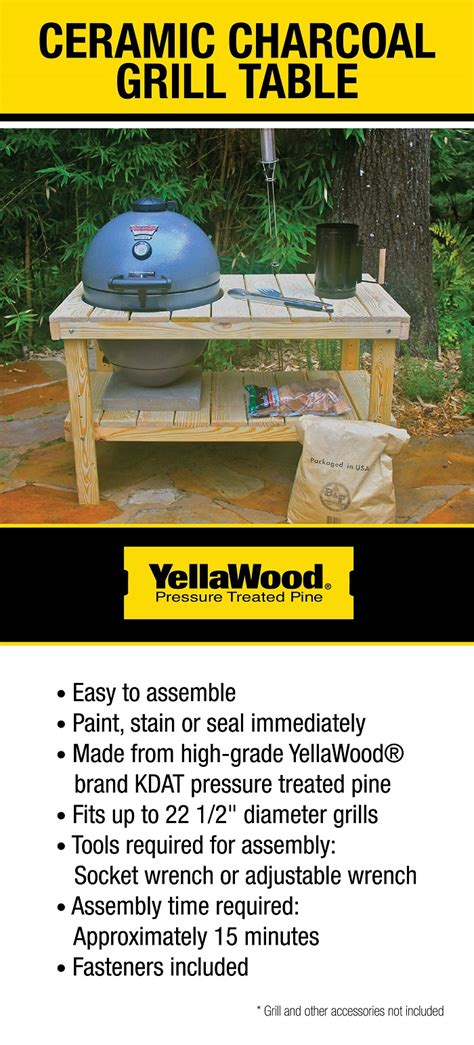 yellawood grill table kit irxagt  home depot