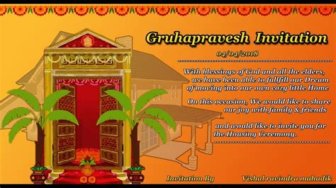 house template for photo card housewarming invitation cards in telugu invacation1st org
