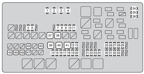 2000 Tundra Tundra Fuse Box Diagram by Toyota Tundra 2011 2012 Fuse Box Diagram Auto Genius