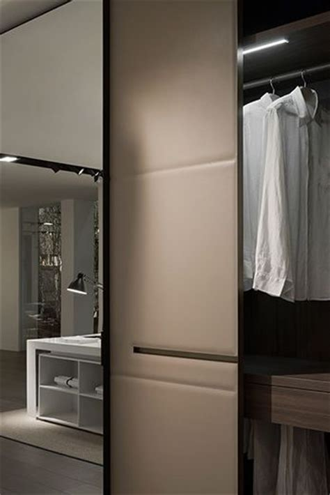 warm by lema featuring leather panel doors closet