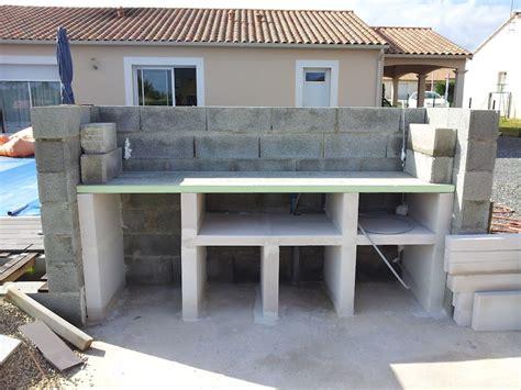 cuisine d été couverte coque alliance emeraude et plage en geolam dans le 86 piscines réalisations