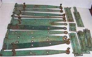 lot of 12 barn door hinges antique hardware latch vintage With antique barn door latches