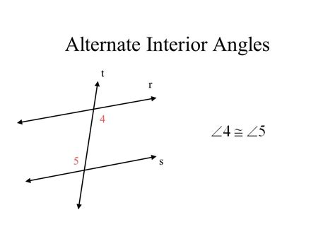 alternate interior angles transversal and parallel lines ppt