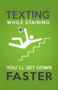 Texting On Stairs