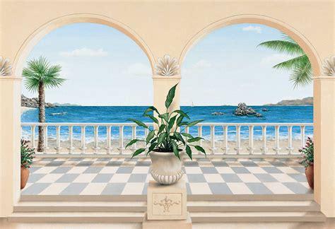 decor trompe l oeil trompe l oeil terrasse provencale wall mural 103