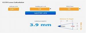 Cctv Lens Calculator  2