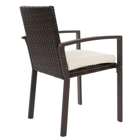 lot chaise de jardin lot de 2 chaises de jardin polyrotin marron avec coussin